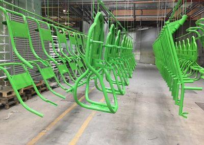 Groene stoelen