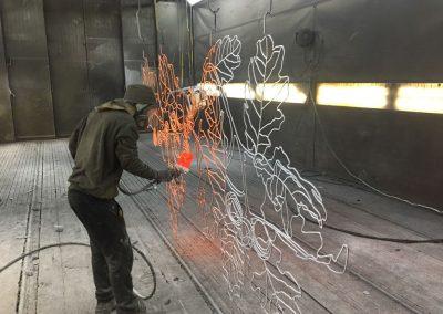 Oppervlaktebehandeling kunstwerk Petra Hart