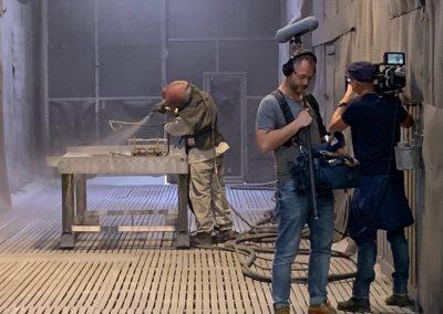 Camerploeg filmt straalwerk 2