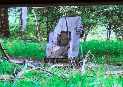 kinderwagen Chateau Meiland oud gestript voor stralen en coaten